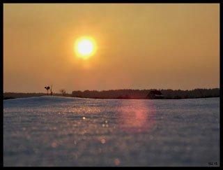 Захід сонця біля Рівного [ФОТО]