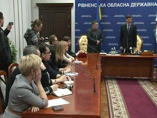 Свободівця Сергія Рибачка представили чиновникам як нового голову Рівненськ ...