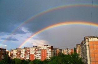 Чудова подвійна райдуга над Рівне (+фото)