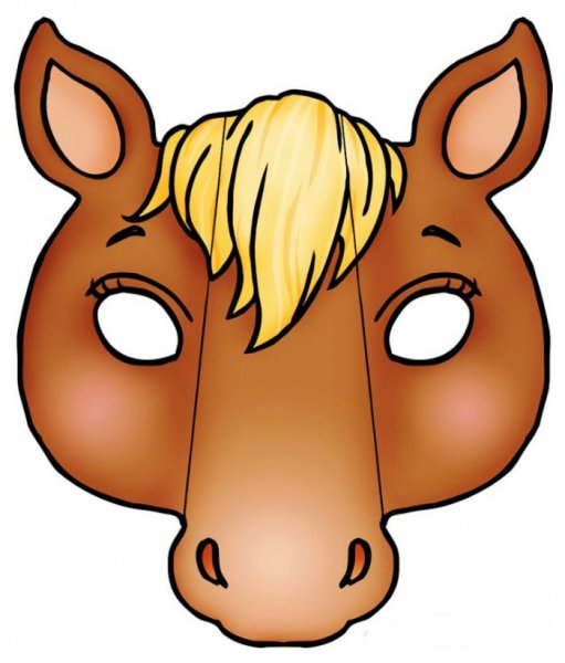 Маска головы лошади из бумаги своими руками