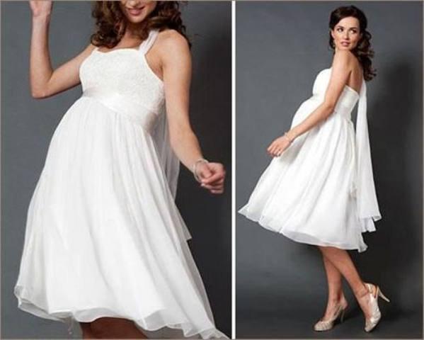 7bb21c28dc94b4 Також, хорошим вибором для вагітної нареченої можуть стати і короткі весільні  сукні. Проте, нижня частина вбрання не повинна облягати, а навпаки – бути  ...