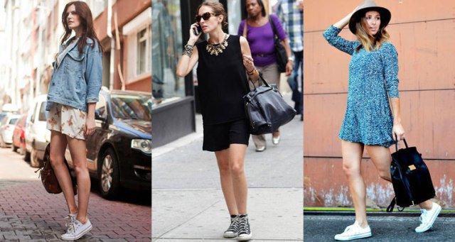 Converse кеды с платьем