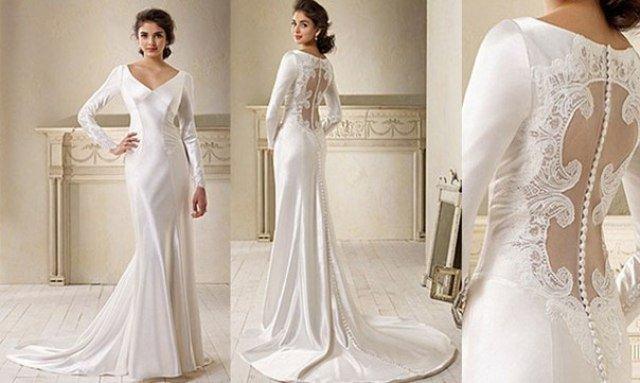 adb972ddd176e1 ТОП-9 стильних весільних суконь з довгими рукавами. Весільні тренди ...