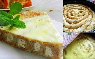 Млинцевий пиріг з сиром
