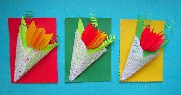 Как сделать подарок из бумаги и из картона для мамы своими руками